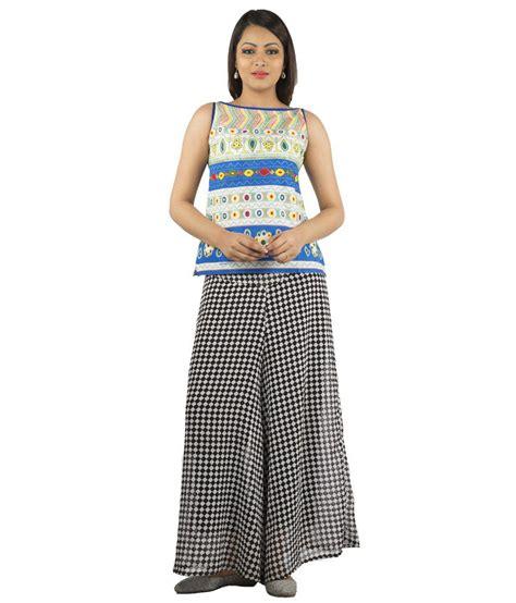 Boat Neck Short Kurti by Jaipur Multicolour Cotton Boat Neck Printed Sleeveless