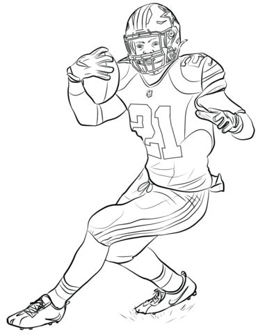 ezekiel elliott coloring page  printable coloring pages