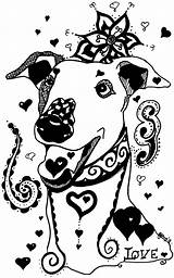Mandala Greyhounds Whippet sketch template