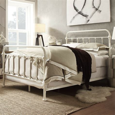 King Size Frame And Headboard by Metal Bed Frame White Antique Iron King