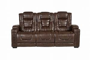 Highway to home power reclining microfiber sofa with drop for Sectional sofa with drop down table