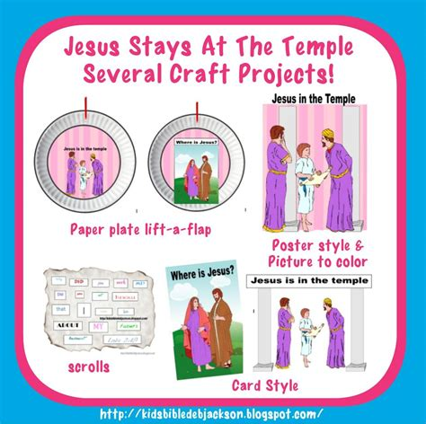 bible for jesus stays at the temple projects 502 | 4. Jesus at temple crafts button crop