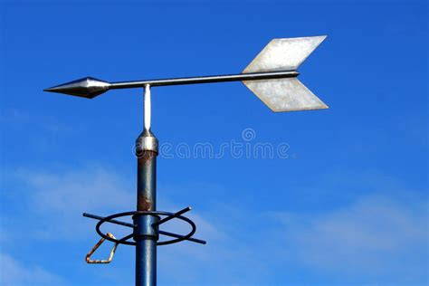 weathervane partly direction against clear sky