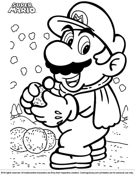 There are several games, including mario brothers, super mario bros. Super Mario Brothers coloring book - Coloring Library