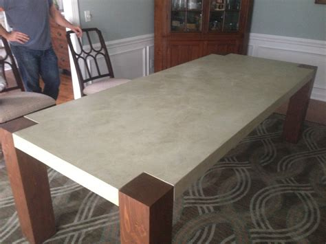 how to make a concrete table how to build a dining room table 13 diy plans guide