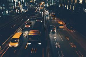 Japanese night city road | Stock Photos