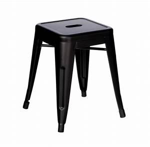 Tabouret Industriel Noir En Mtal Esprit D39Autrefois 79199
