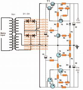 0 To 50v  0 To 10amp Variable Dual Power Supply Circuit