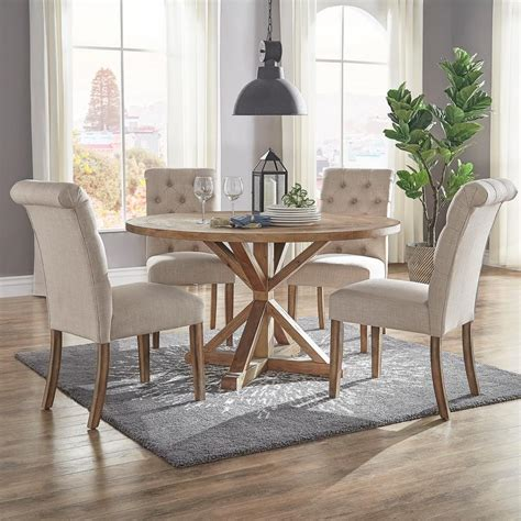 homesullivan huntington beige linen button tufted dining