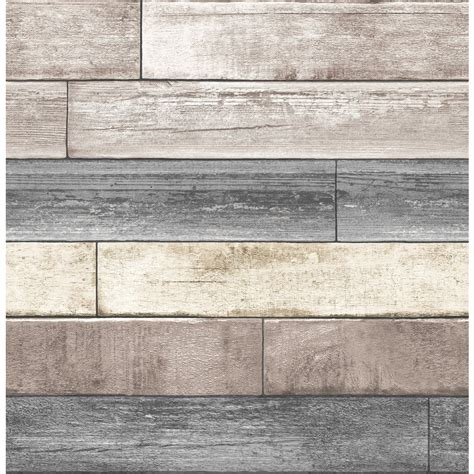 vinyl wood wall covering shop brewster wallcovering peel and stick beige vinyl wood wallpaper at lowes com