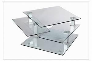 Table Basse Carrée Verre : table basse design carr e en verre extensible astucia 180 cbc meubles ~ Teatrodelosmanantiales.com Idées de Décoration