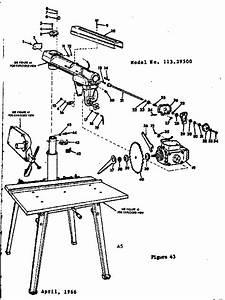 Craftsman 11329500 Radial Arm Saw Parts