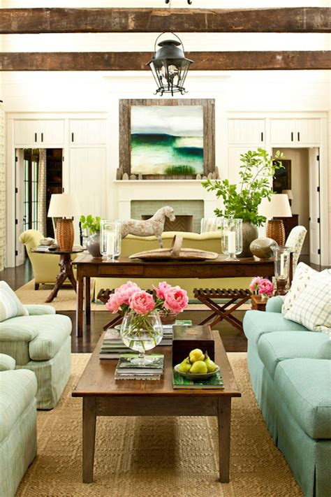 southern living family rooms two sitting areas cottage living room sherwin