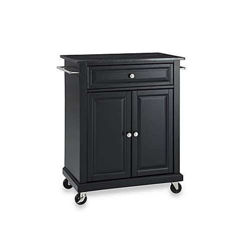 kitchen island cart with granite top buy crosley black granite top rolling portable kitchen 9393