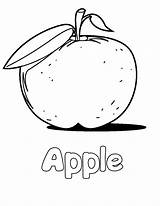 Apple Coloring Pages Printable Print Drawing Fruit Alphabet Letter Colouring Custard Fruits Lemonade Sheets Nature sketch template