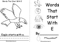 words that start with the letter e letter e alphabet activities at enchantedlearning 31063