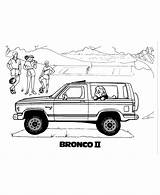 Coloring Bronco Pages Ford Cars Sheets Ii 1983 Vehicles Automobiles Bluebonkers sketch template