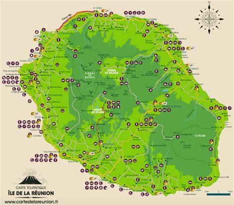 Ile De Tourisme Carte by Carte Routi 232 Re Et Touristique De La R 233 Union Carte De La