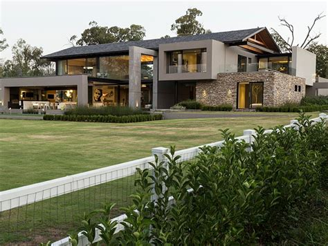 contemporary farmhouse  south africa takes outdoor entertainment   levels  stunning homes
