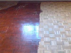 Floor sanding and gap filling project in wembley for How to varnish parquet flooring