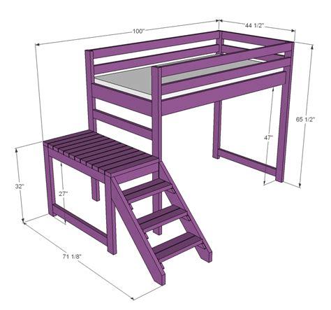 loft bed woodworking plans woodshop plans