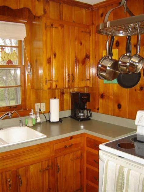 Kitchen Paneling Ideas by 1950s Knotty Pine Kitchens Wood Paneled