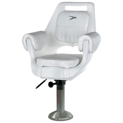 pedestal boat seats wise 174 deluxe pilot boat chair and cushion set 15 quot fixed