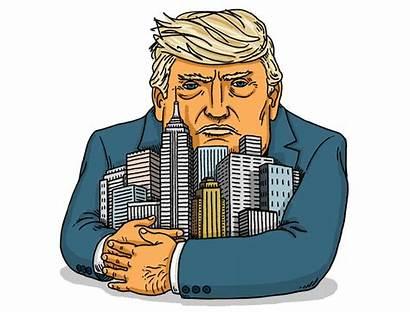 Trump Donald Deal Illustration Magazine Board Doesn