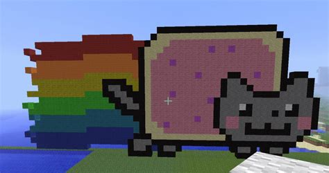 Pixel Art! #2 Minecraft! Nyan Cat ^^ By Chopperextra On