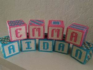 custom order personalized baby name block in plastic With plastic letters for crafts