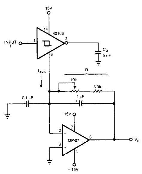 Frequency Voltage Converter Circuit Diagram