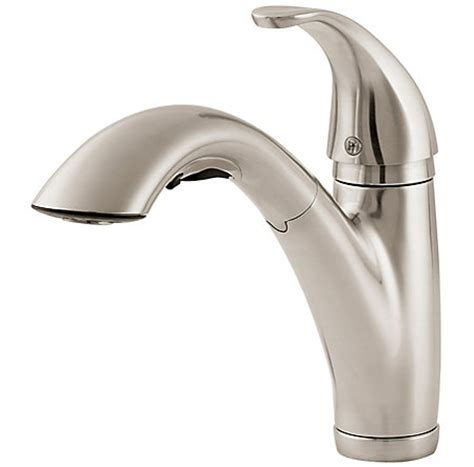stainless steel parisa 1 handle pull out kitchen faucet