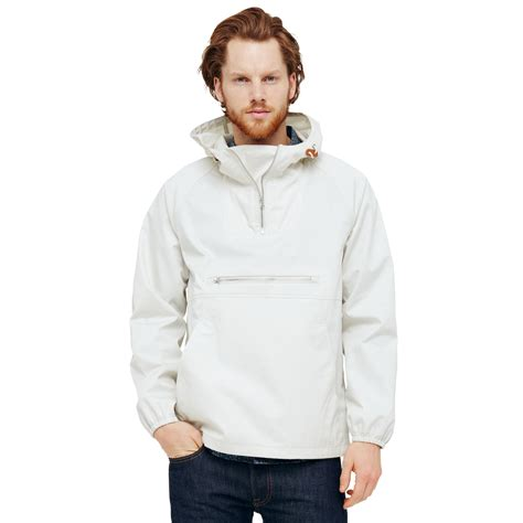 hooded drawstring pullover lyst club monaco anorak pullover in white for