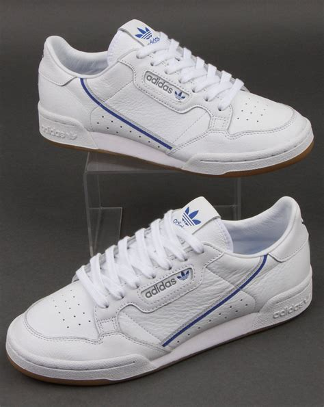 Adidas Continental 80 Trainers White/Grey/Blue,leather ...