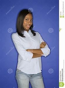 African american teen girl standing