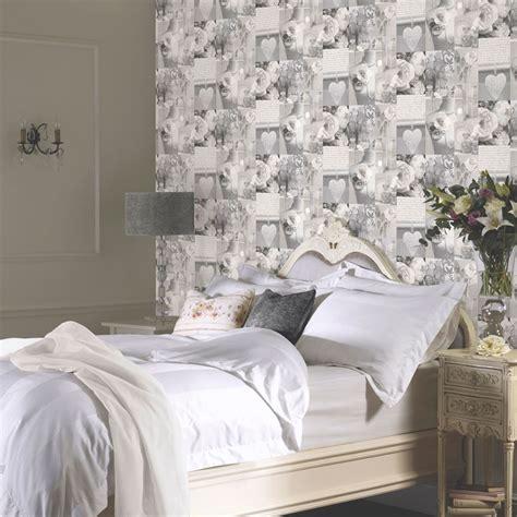 grey shabby chic wallpaper arthouse charlottle floral shabby chic wallpaper grey natural feature wall ebay