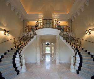 Classical Grand Foyer Double Staircase for a Mediterranean ...