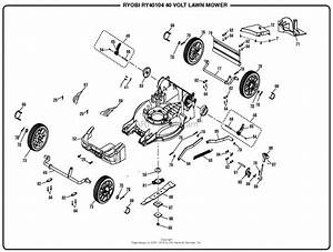 Homelite Ry40104 40 Volt Lawn Mower Mfg  No  107928023 Parts Diagram For General Assembly  Part 2