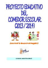 proyecto de comedor escolar plan comedor escolar