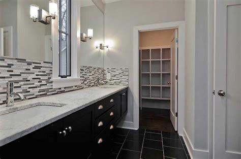 bathroom backsplashes ideas bathroom backsplash ideas with white wall and black