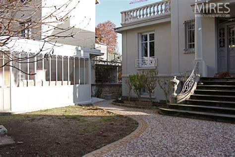 art deco villa  garden overlooking  seine  mires paris