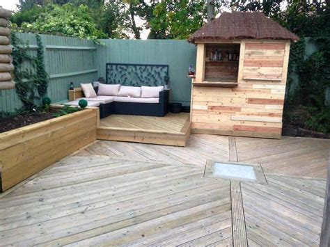 made out of pallets diy outdoor pallet bar with pyramid style roof
