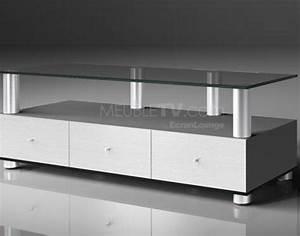 Meuble Pour Verre : meuble tv en verre ~ Teatrodelosmanantiales.com Idées de Décoration