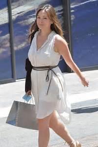 Lindsay Price in Mini Dress Shopping in LA White Count