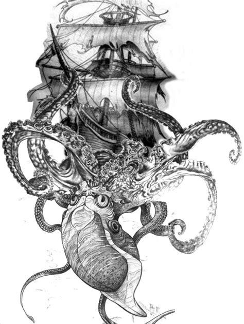 Kraken tattoo - bucket list   Tattoo   Kraken tattoo, Tattoos, Octopus tattoos