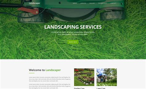 bootstrap template gardening a free bootstrap gardening and landscaping companies