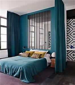 une chambre parentale couleur bleu canard avec verriere With couleur pour chambre parentale
