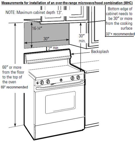 the range microwave installation appliance information measurements for over the range microwave hood mhc installation