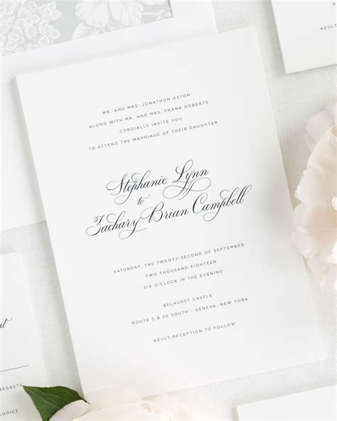 delicate elegance wedding invitations wedding