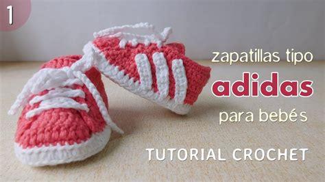 Zapatillas Adidas a crochet para bebé (Parte 1 de 2) YouTube